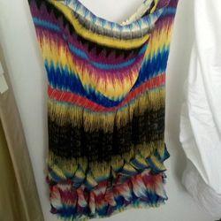 Native American inspired strapless dress, $100