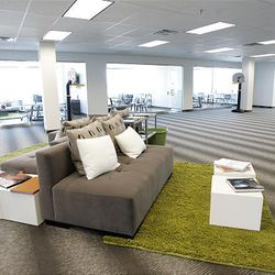 The Provo Craft corporate office in South Jordan is designed to be a comfortable place for employees to work and be creative.