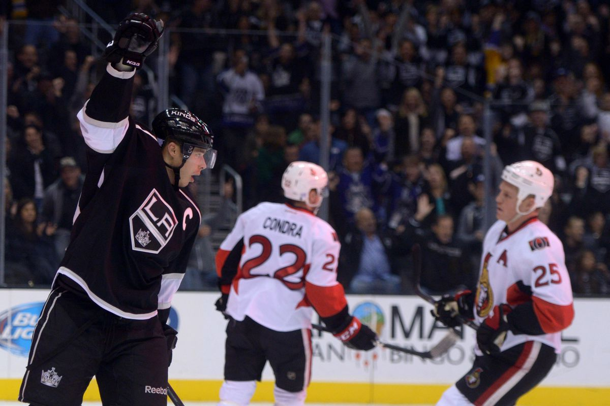 Condra and Neil wonder if anyone will notice that Dustin Brown scored a goal.
