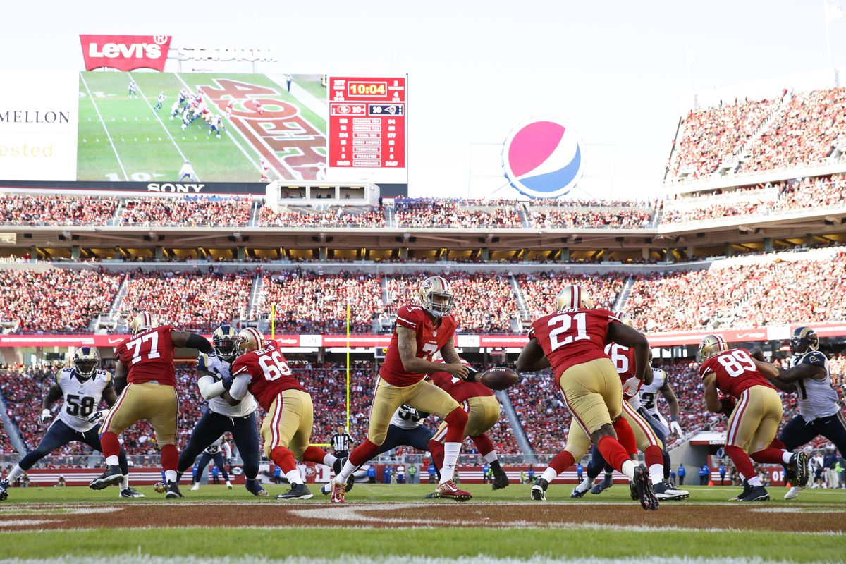 The home of the Niners could get more Big Red in it.