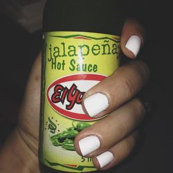 Hot sauce, hotter nails. I went with Blanc and got loads of compliments at dinner.