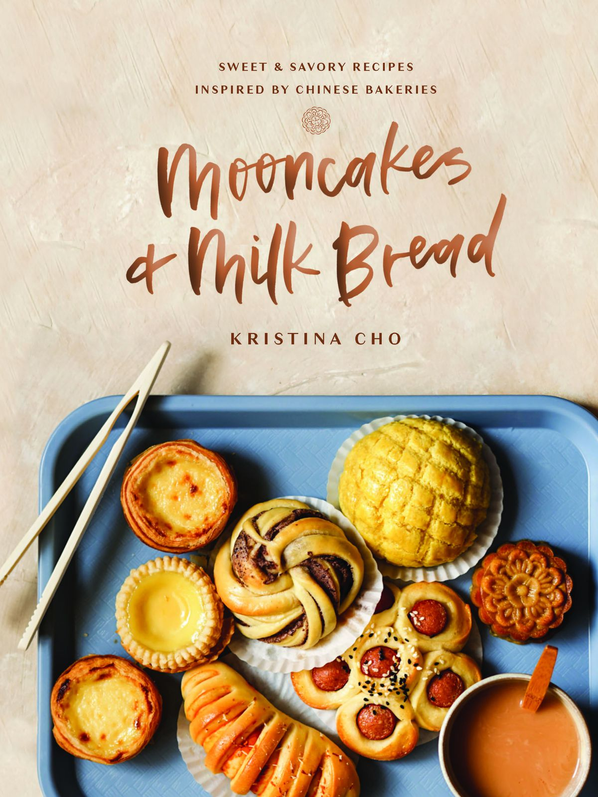 A cookbook cover with an array of Chinese baked goods