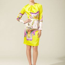 Vera Wang printed satin dress, reg $1,095. Gilt City Warehouse Sale price: $110.