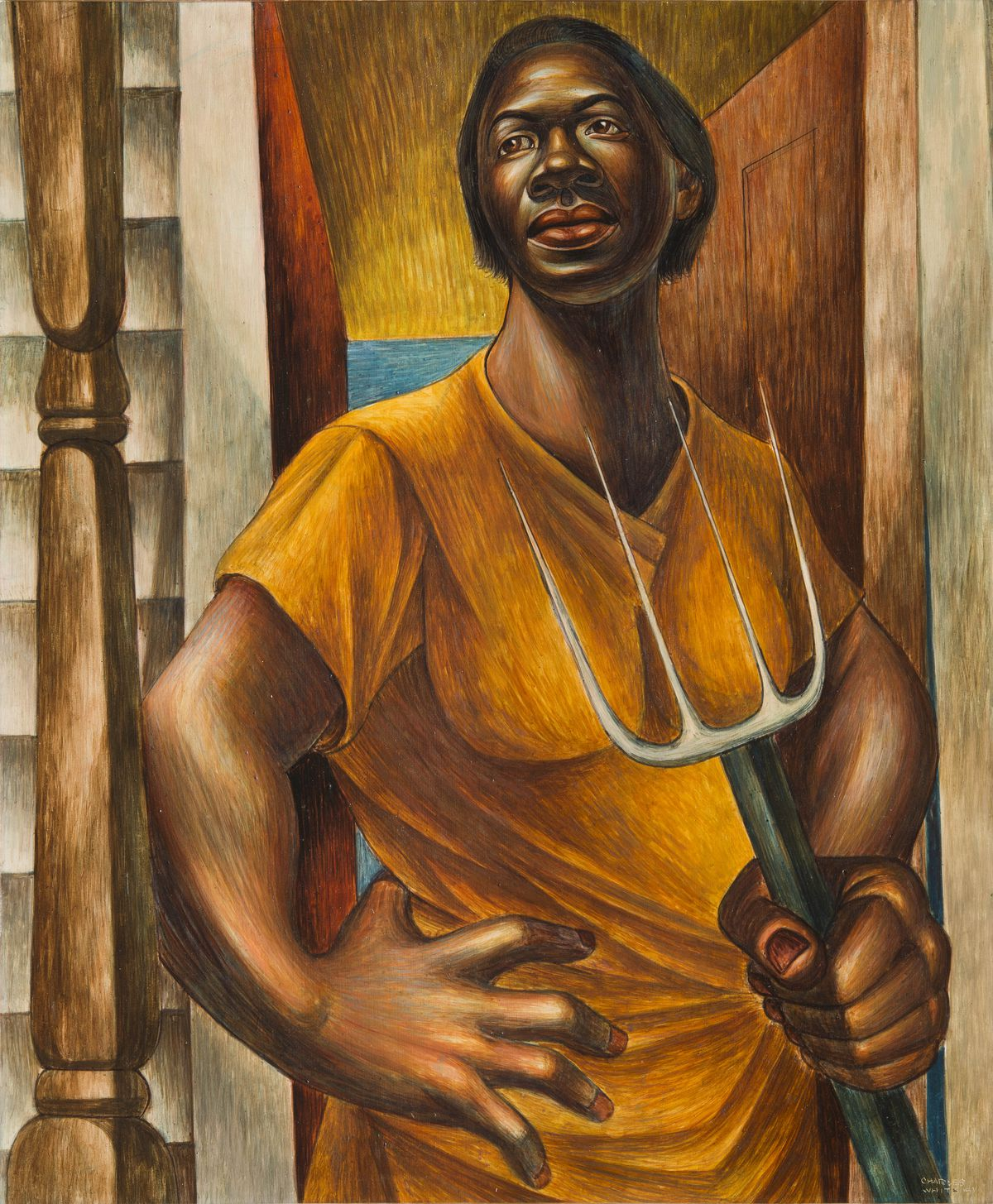 """""""Our Land"""" by Charles White, 1951. 