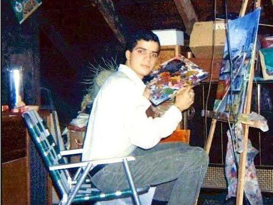 Gamaliel Ramirez painting in 1969. | Provided photo