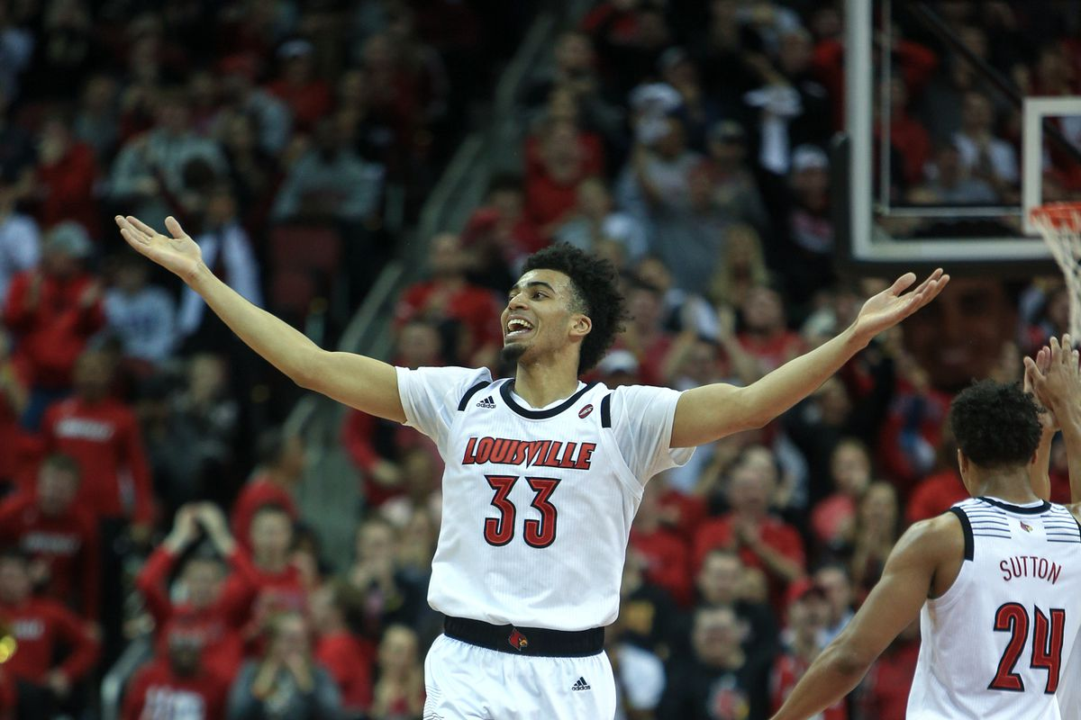 Jordan Nwora pumping up the crowd in the win over Pittsburgh.