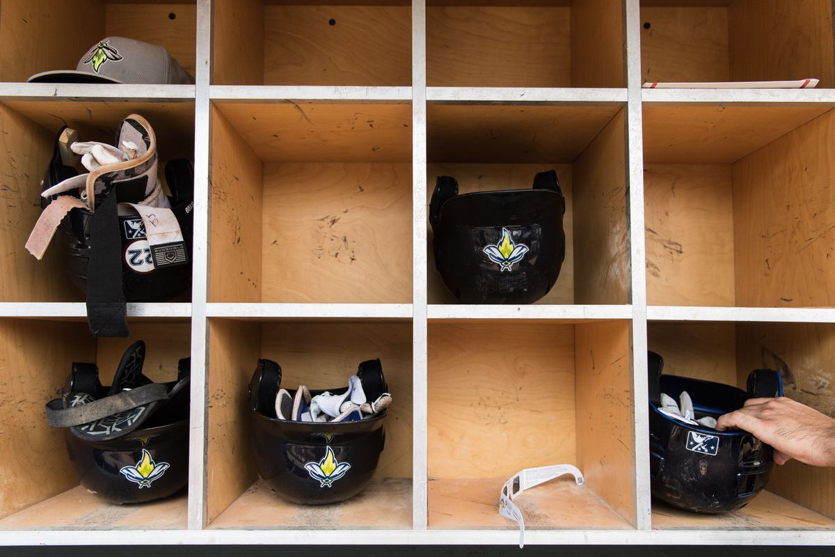 Here is a picture of minor league baseball helmets. 42 MiLB teams might not exist if the MLB gets its way.