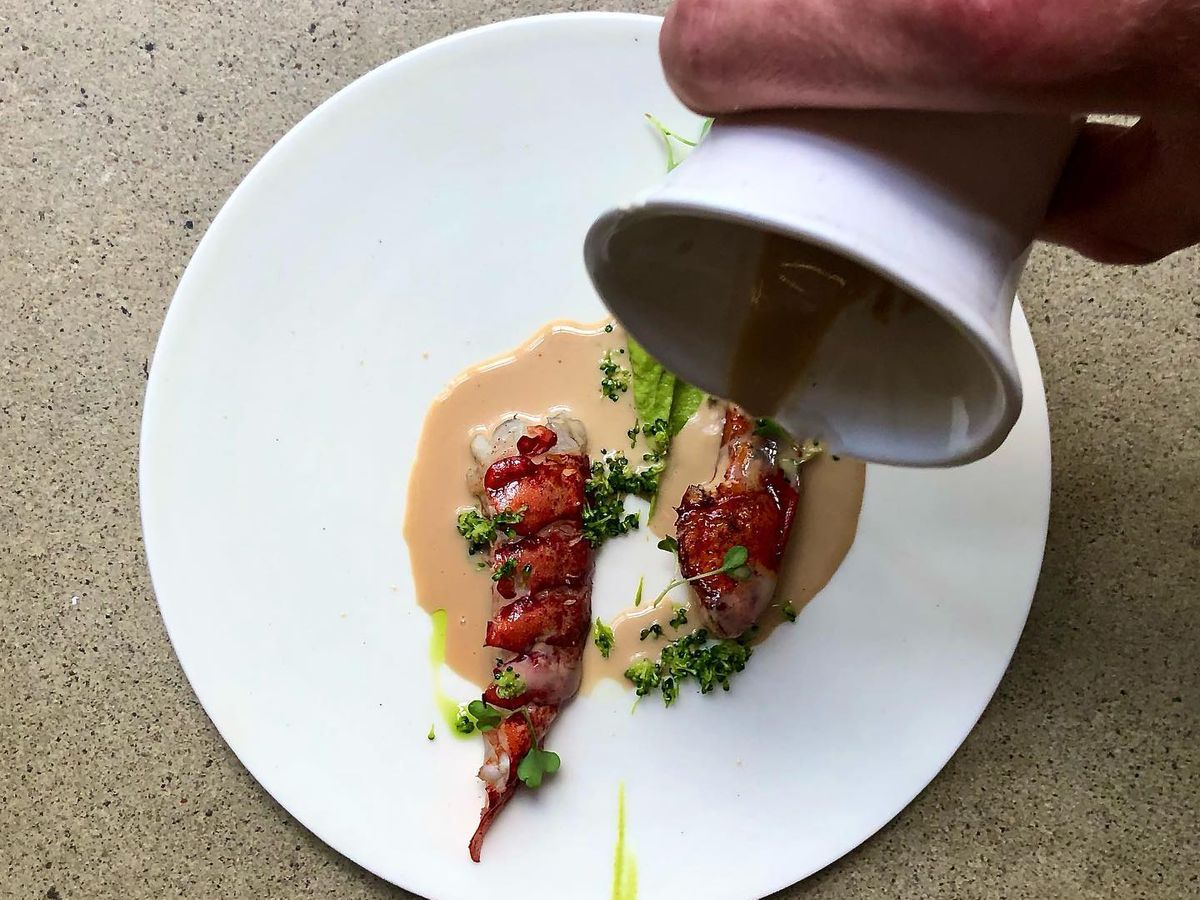 lobster with sauce