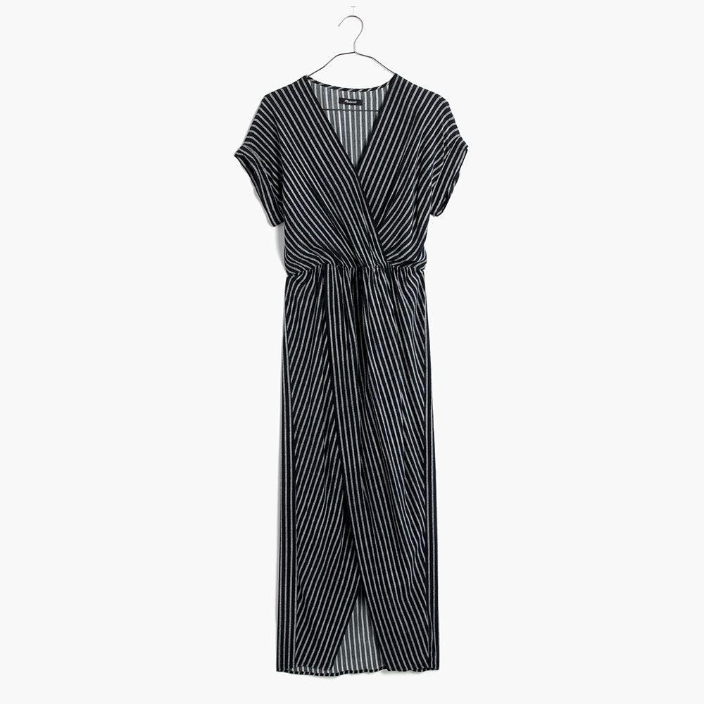 Wrap-Front Maxi Dress, MAdewell