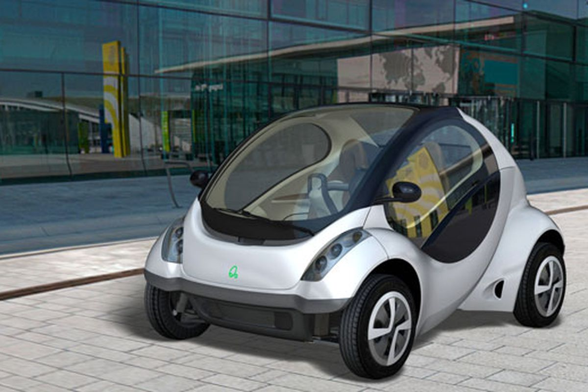 Hiriko electric car folds up to take one-third of a parking spot ...
