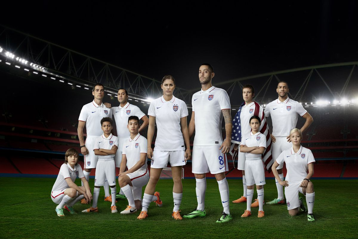 4e526dfb6d7 Nike unveil bright white USMNT   USWNT home kit to keep Yanks cool in Brazil