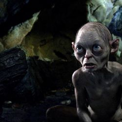 """This film image released by Warner Bros., shows the character Gollum voiced by Andy Serkis in a scene from the fantasy adventure """"The Hobbit: An Unexpected Journey."""""""