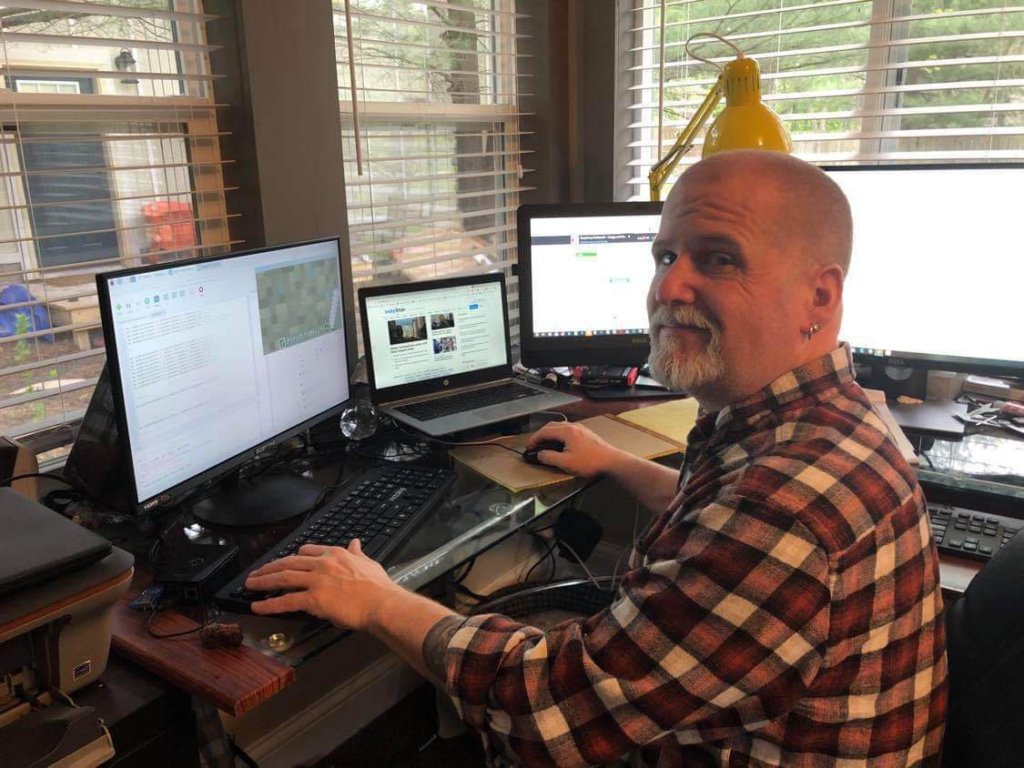 Gregg Nowling in his home office.