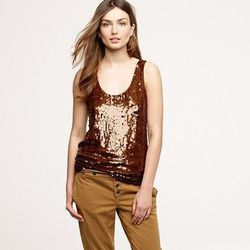 "Sepia sequin tank, <a href=""http://www.jcrew.com/womens_category/shirtsandtops/sleeveless/PRDOVR~46115/99102395695/ENE~1+2+3+22+4294967294+20~~~20+17+4294961903~90~~~~~~~/46115.jsp"">$160</a> with code."