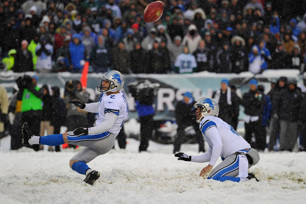 Stuff like this -- David Akers getting an extra point blocked in the snow -- would not happen if the NFL eliminates the extra point