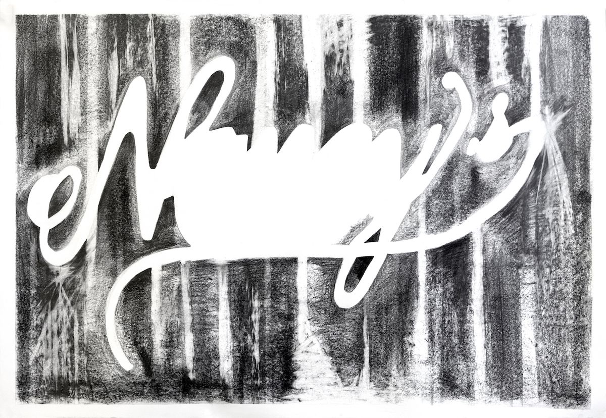 """An untitled drawing from the """"Thick Series"""" by Carris Adams."""