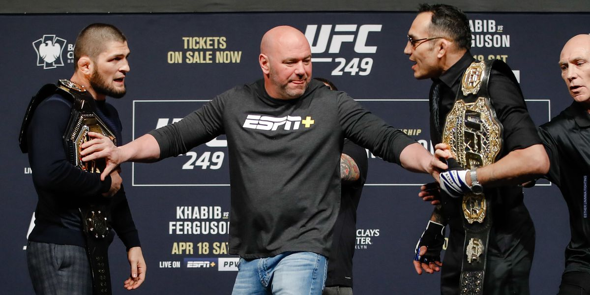 Dana White promises 'whatever it takes' Khabib Nurmagomedov vs. Tony Ferguson will happen on April 18 - MMA Fighting