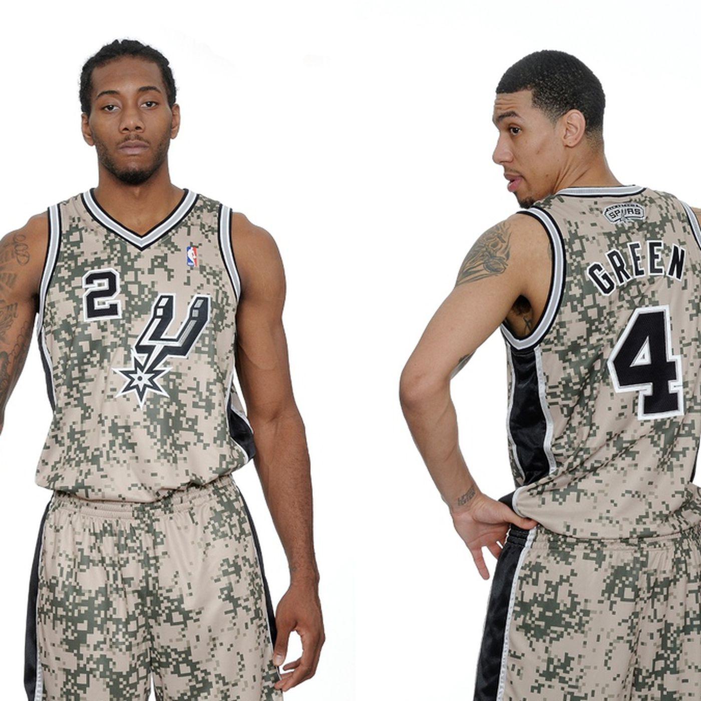 Spurs release photos of military-inspired camouflage jerseys ... 59557cc3a