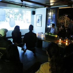 Before dinner, guests were treated to a viewing of Episode 3.