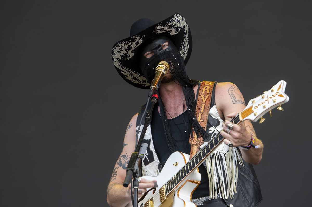 Orville Peck preforms at the T-Mobile Stage Thursday.