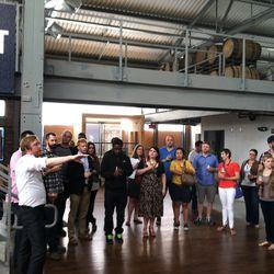 Greg Engert, beer director of Neighborhood Restaurant Group, leading a tour.
