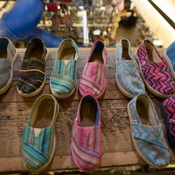 TOMS is known for Blake Mycoskie's One for One® idea, for every product purchased one is given to a person in need.