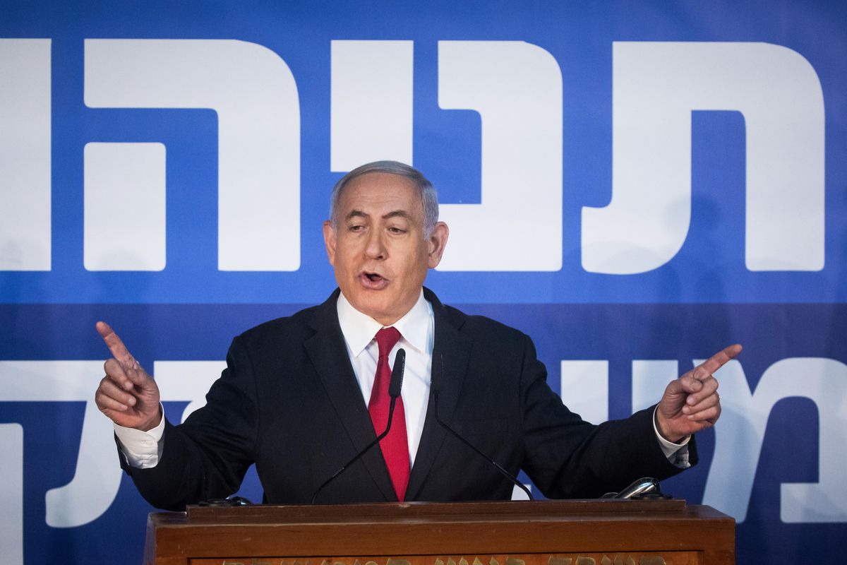 Benjamin Netanyahu speaking about the Attorney General's decision to indict him.