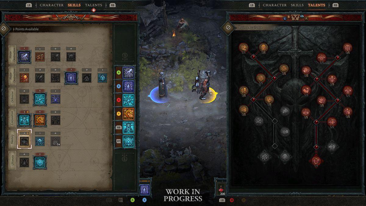 Diablo 4 couch co-op UI