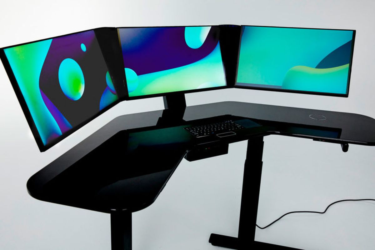 This All In One Smart Desk Has Three Screens And A Built Scanner