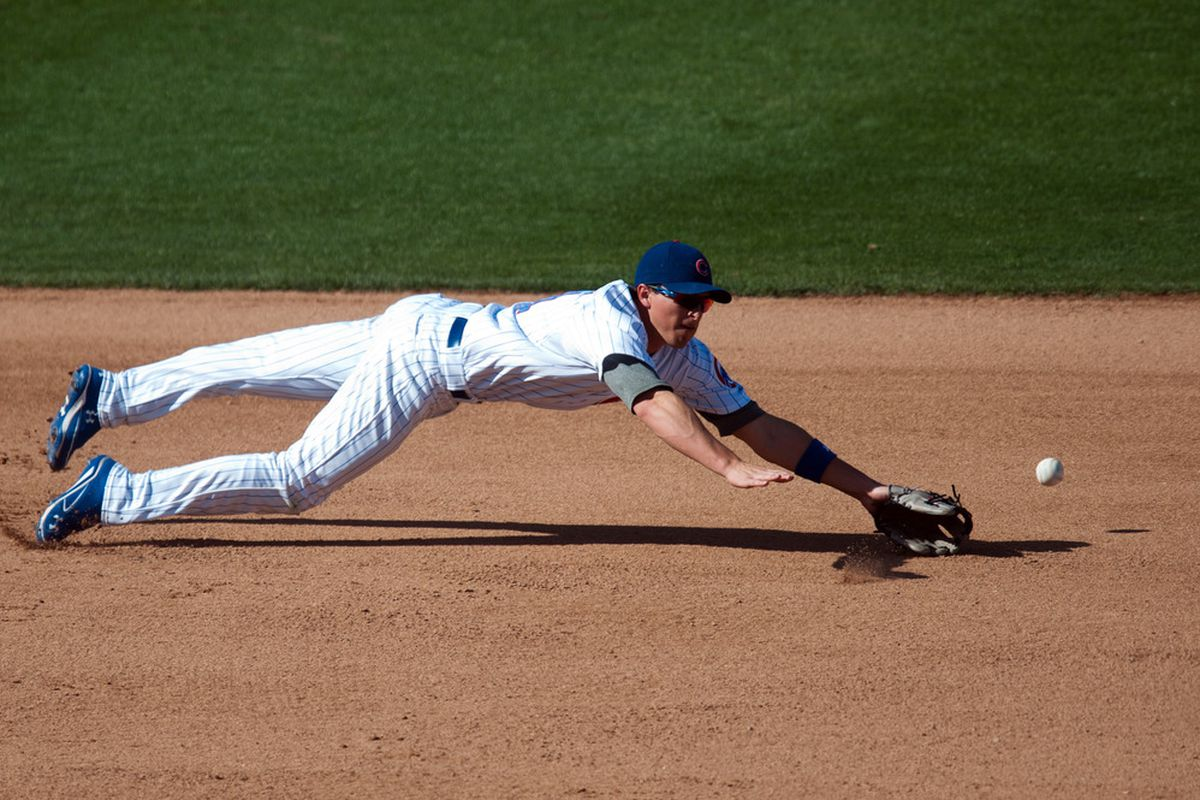 Third baseman Josh Vitters is off to a strange spring. (Photo by Rob Tringali/Getty Images)