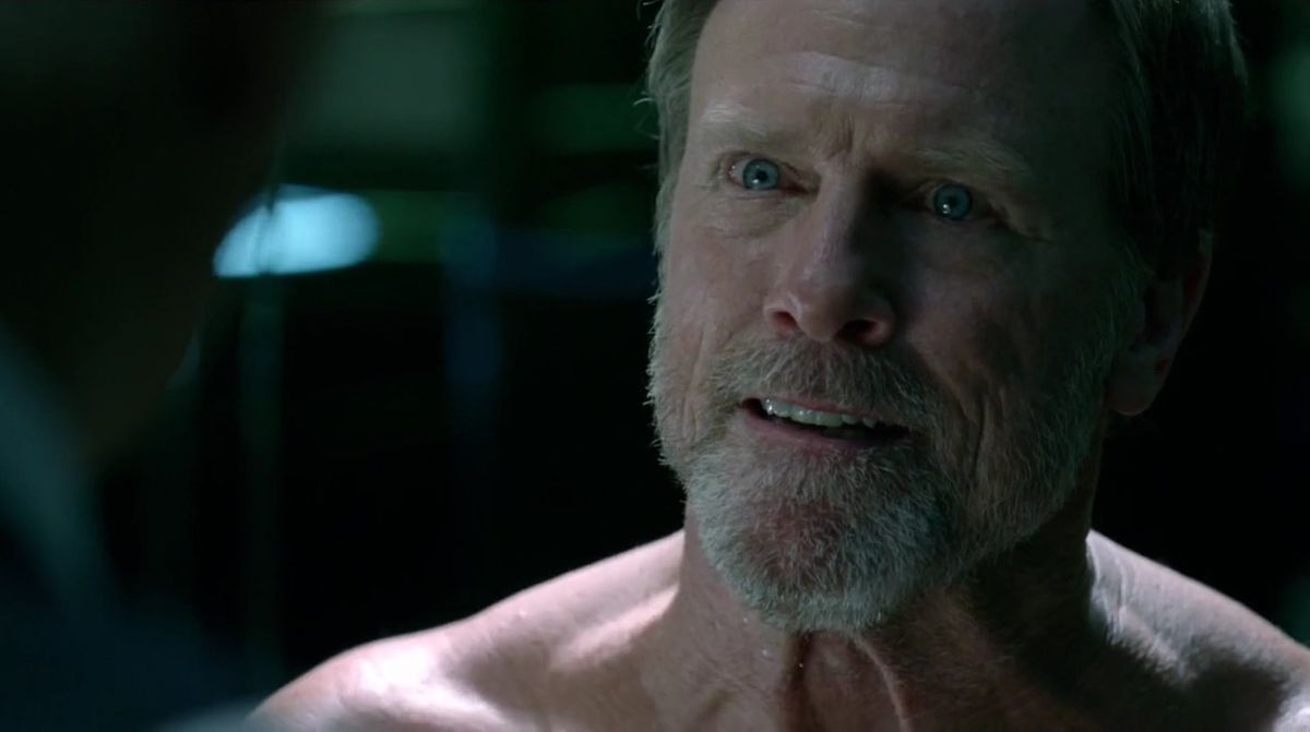 Peter Abernathy, Dolores' father,in season 1 of Westworld