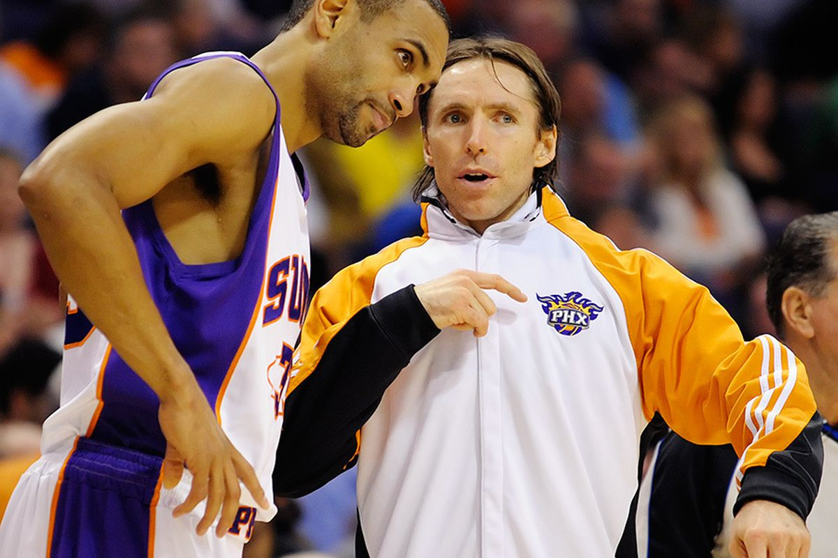 Grant Hill and Steve Nash have both expressed their admiration for Amare Stoudemire and a desire to continue playing with him. (Photo by Max Simbron)