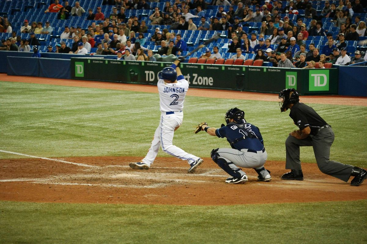 Kelly Johnson strikes out to end the game. So sad. (Photo by @james_in_to)