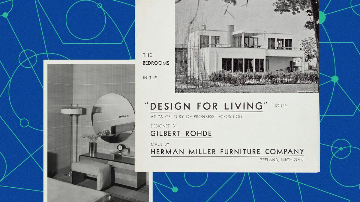A brochure, Herman Miller's Design for Living House.