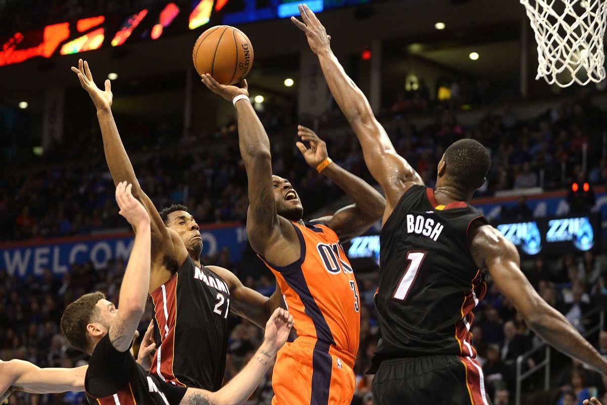 NBA: Miami Heat at Oklahoma City Thunder