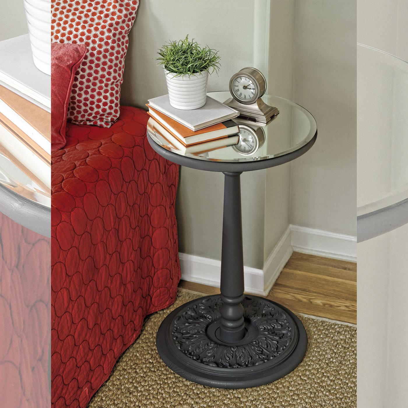 How To Build A Mirror Topped Accent Table This Old House