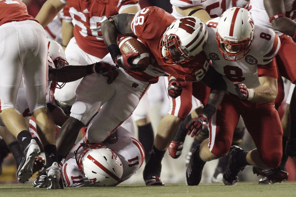 MADISON, WI - OCTOBER 1: Montee Ball #28 and the Wisconsin Badgers possess one of the best Red Zone offenses in the country.