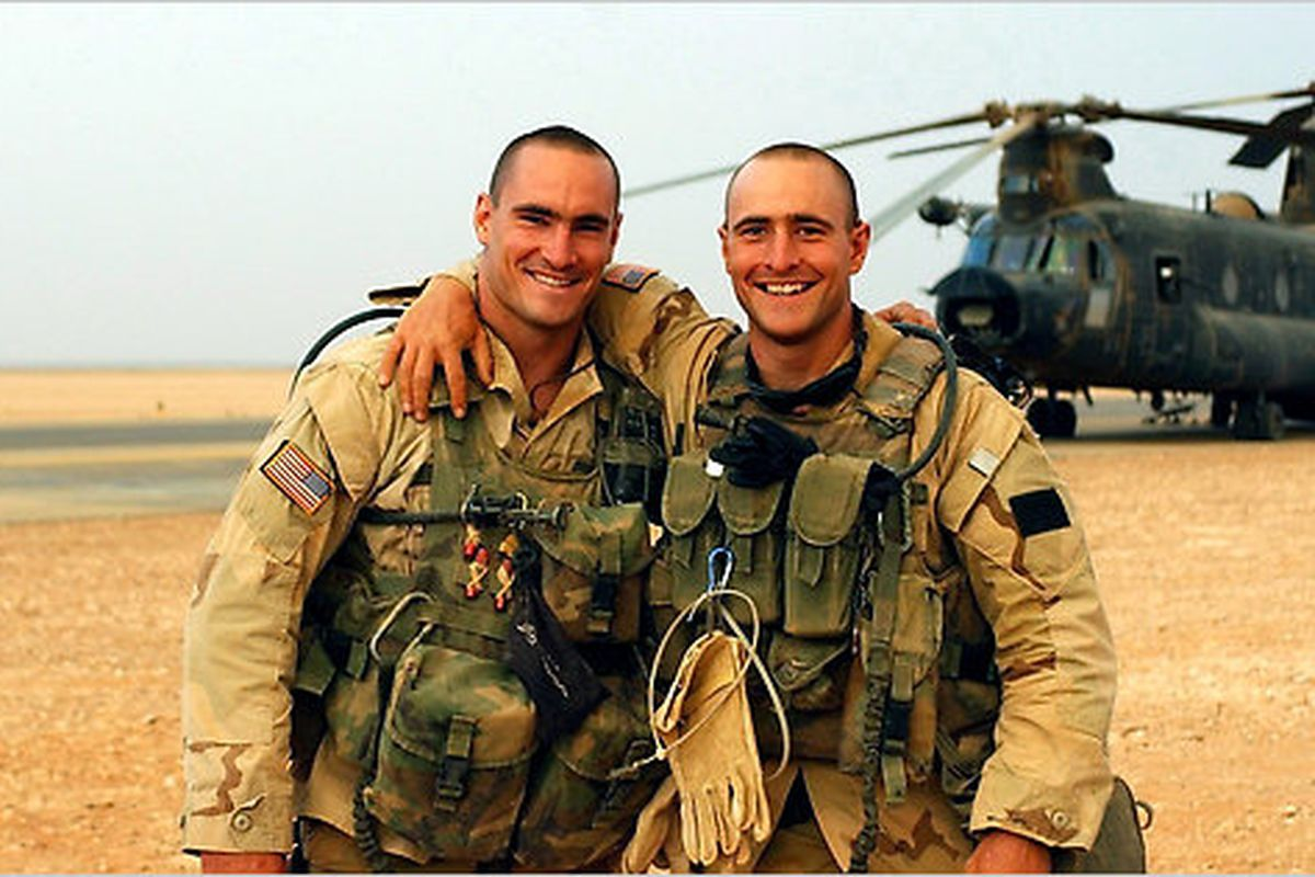 Pat Tillman (left) and his brother, Kevin. Photo courtesy of the Tillman family.