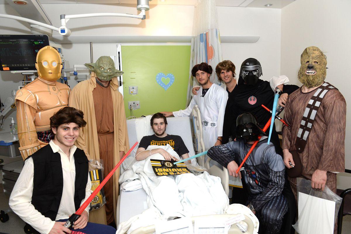 Boston Bruins Celebrate Halloween With Boston Children's Hospital