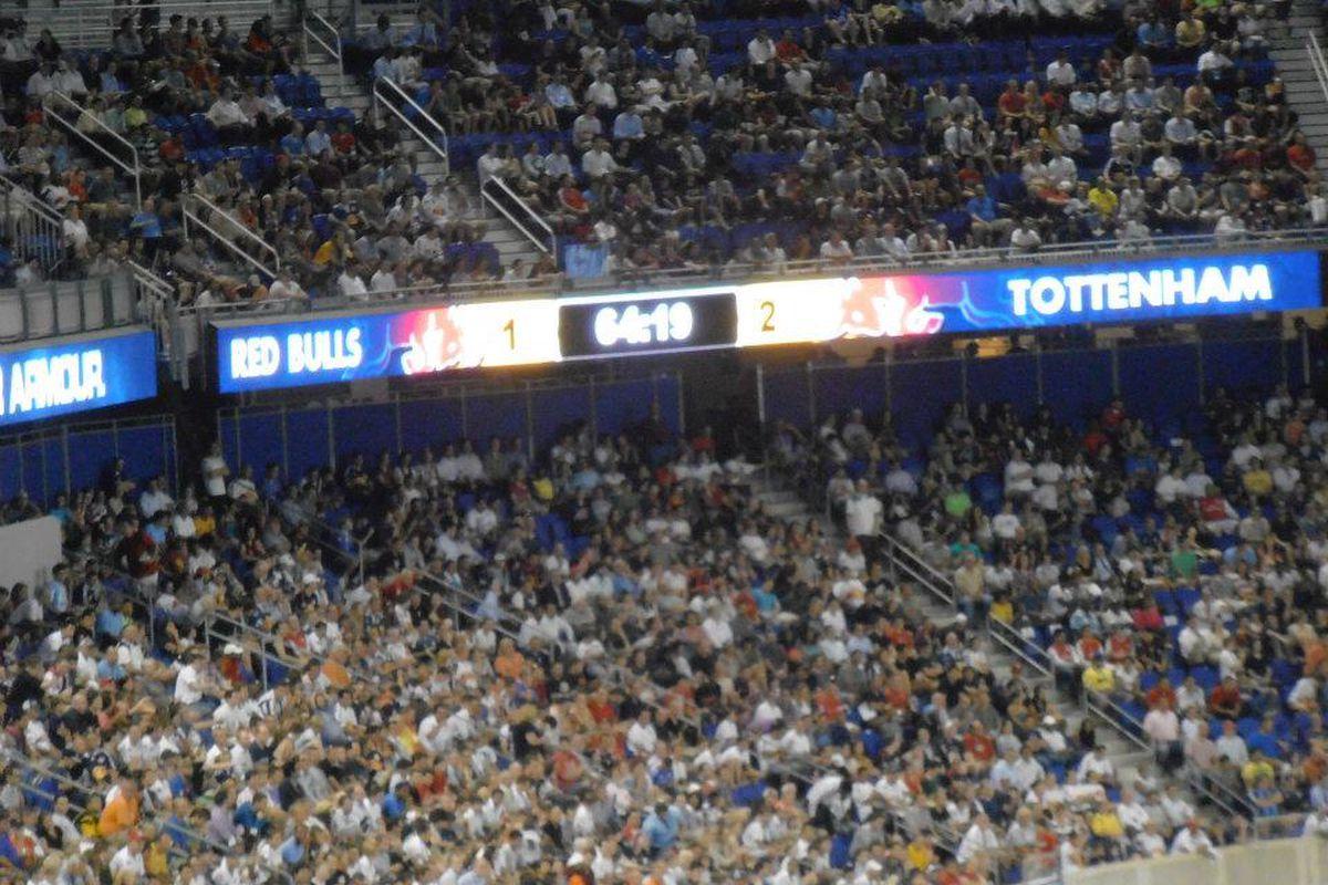 Tottenham Red Bulls Score