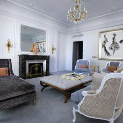 The newly redecorated Dior Suite is seen in New York's St. Regis Hotel, Wednesday, March 14, 2012. A century after the Titanic sank, the legacy of the ship's wealthiest and most famous passenger, John Jacob Astor, quietly lives on at the luxury hotel he built in New York City.