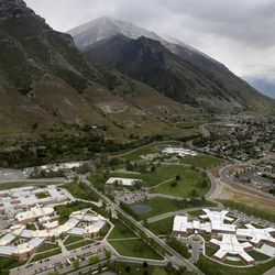 The Utah State Hospital in Provo is seen from the air on Thursday, May 18, 2017.