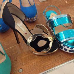 Embellished heel, $350