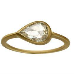 "<b>Conroy & Wilcox</b> <a href=""http://conroywilcox.com/rings"">Diamond Teardro Ring</a>, $2520"