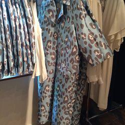 Leopard jacquard opera coat, $500