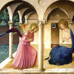 Fra Angelico, Annunciation (1438-45), Museo de San Marco, Florence