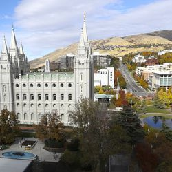 The Salt Lake Temple is pictured on Tuesday, Oct. 22, 2019.