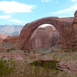 Rainbow Bridge at Lake Powell. The National Park Service has designated the bridge a Traditional Cultural Property, recognizing the site's historic and ongoing cultural significance to at least six American Indian tribes, and establishing its listing in the National Register of Historic Places. Rainbow Bridge is the first site in Utah to gain a such a designation.