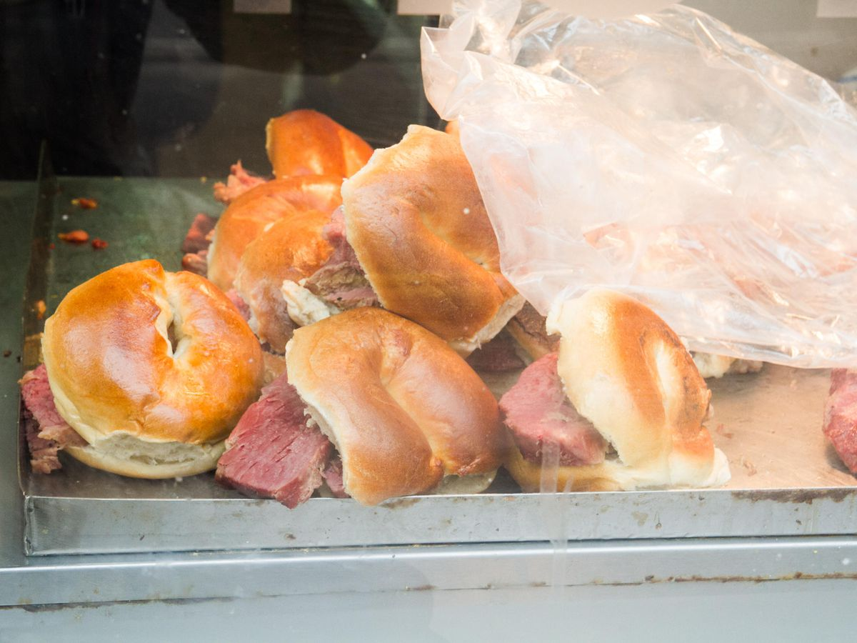 London's best bagels include salt beef at Beigel Bake