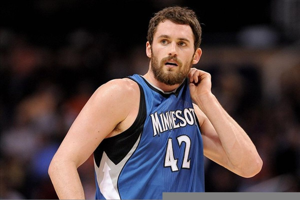Mar. 12, 2012; Phoenix, AZ, USA;  Minnesota Timberwolves forward Kevin Love (42) reacts on the court while playing against the Phoenix Suns during the first half at the US Airways Center.  Mandatory Credit: Jennifer Stewart-US PRESSWIRE.